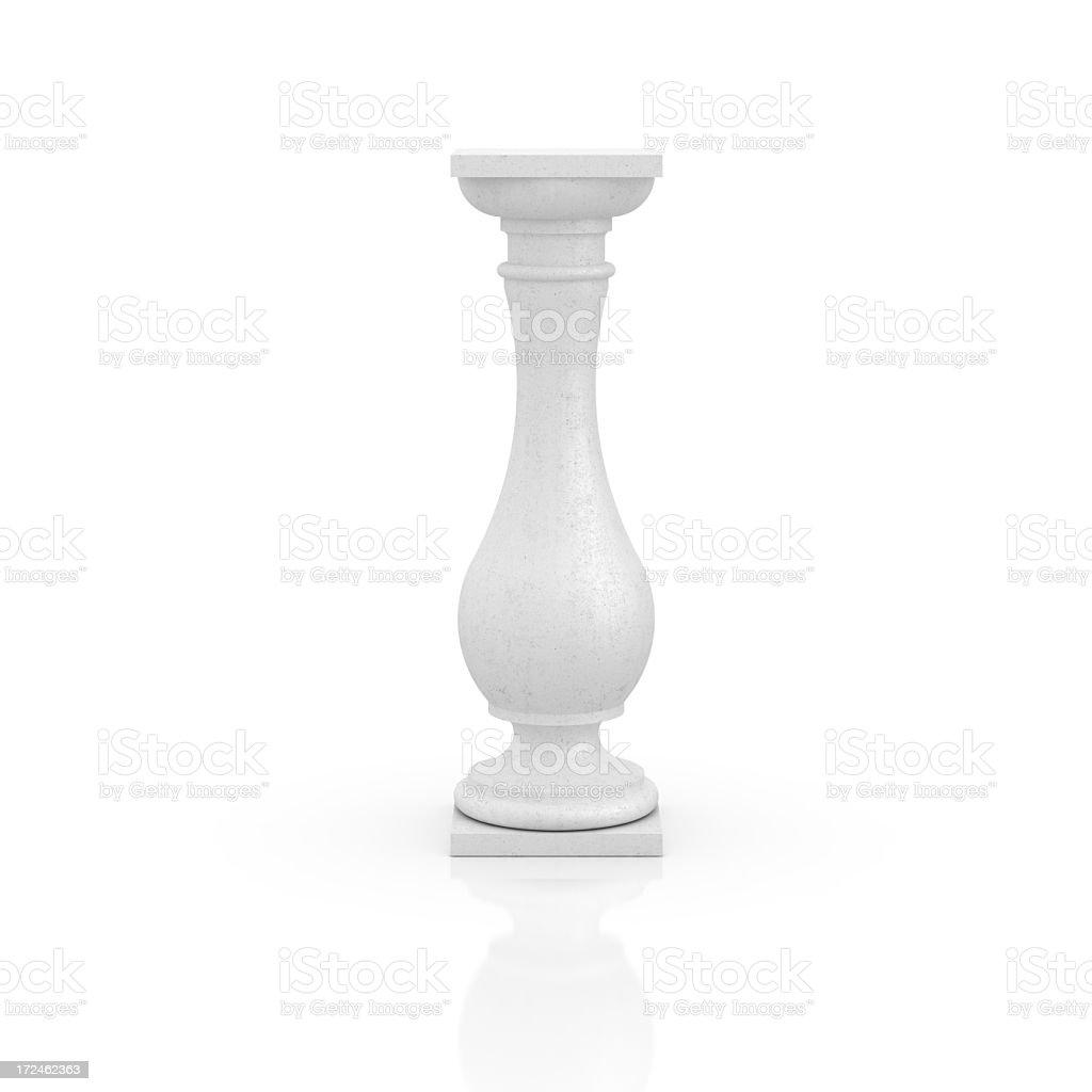 Empty column on white royalty-free stock photo