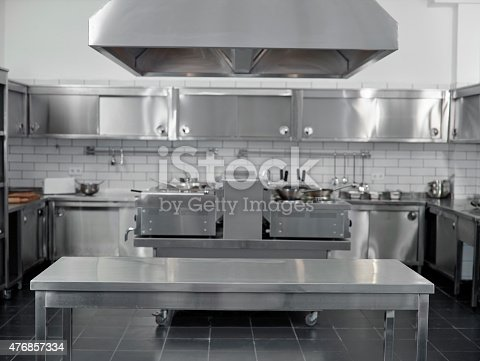 istock Empty commercial kitchen 476857334
