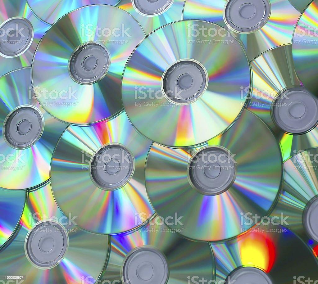 Empty compact discs stock photo