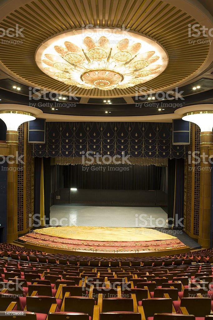 empty concert hall stock photo