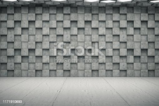 840777964istockphoto Empty Concrete Geometric Wall 1171910693