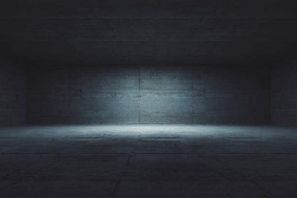 Empty concrete room stock photo