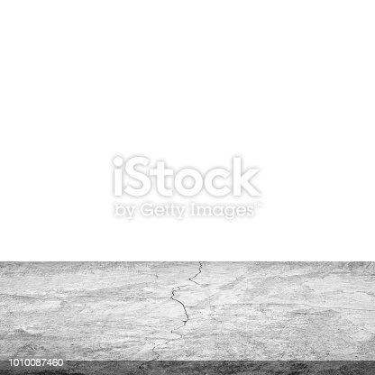 671896388istockphoto Empty concrete table on isolated white and background. 1010087460