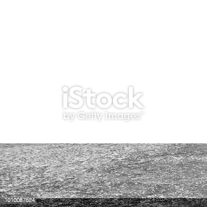 671896388istockphoto Empty concrete table on isolated white and background. 1010087524