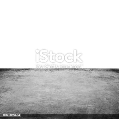 istock Empty concrete table on isolated white and background. 1066185474