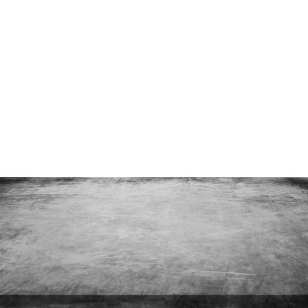 Empty concrete table on isolated white and background. Empty concrete table on isolated white and background. high section stock pictures, royalty-free photos & images