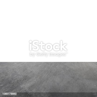 671896388istockphoto Empty concrete table on isolated white and background. 1069179950