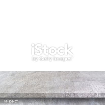 671896388istockphoto Empty concrete table on isolated white and background with copy space. 1154808407