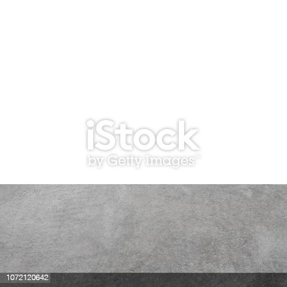 671896388istockphoto Empty concrete table on isolated white and background with display montage for product. 1072120642