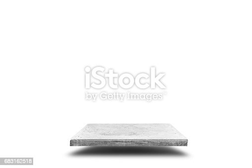 671896388istockphoto Empty concrete table on white background, Template mock up for display of your product. 683162518