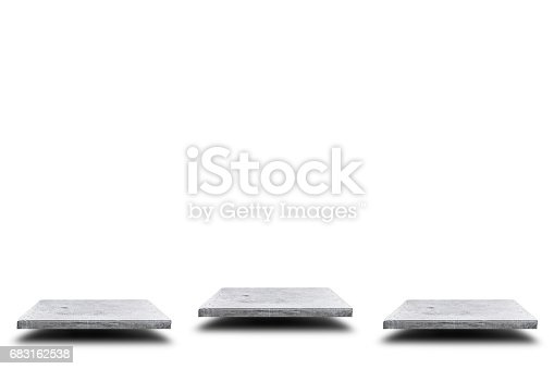 671896388istockphoto Empty concrete table on white background, Template mock up for display of your product. 683162538