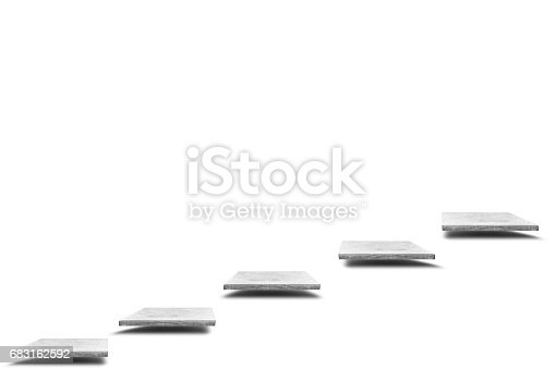 671896388istockphoto Empty concrete table on white background, Template mock up for display of your product. 683162592