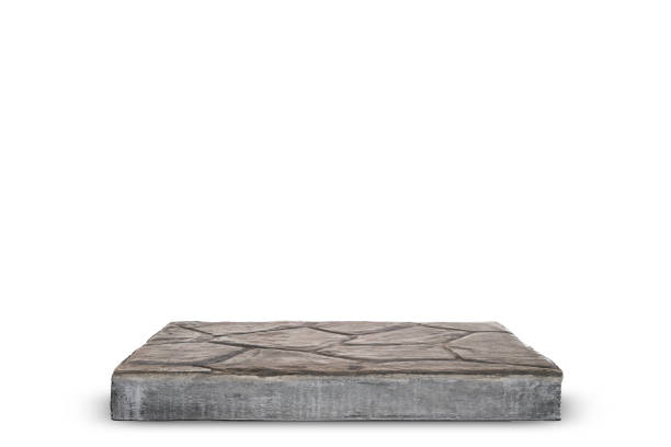 Empty concrete table, Template mock up for display of your product. stock photo