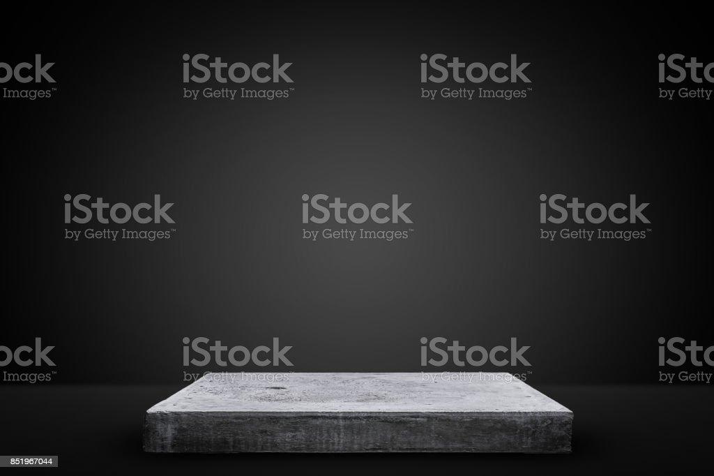 Mesa de hormigón vacía, plantilla de simulacros para la exhibición de su producto. foto de stock libre de derechos