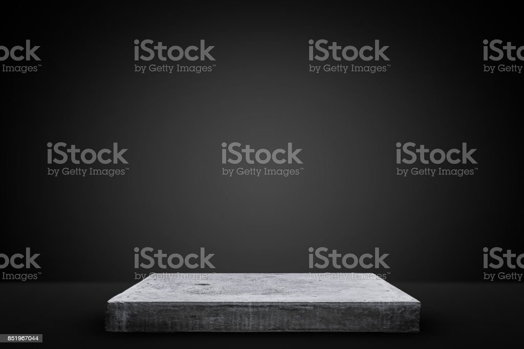 Empty concrete table, Template mock up for display of your product.