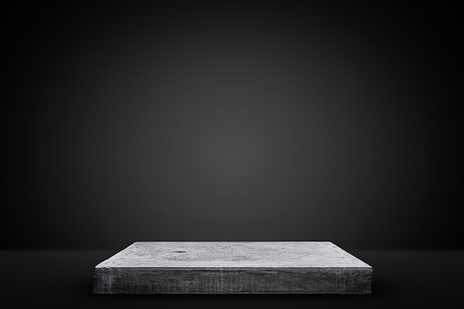 Empty Concrete Table Template Mock Up For Display Of Your Product Stock Photo - Download Image Now