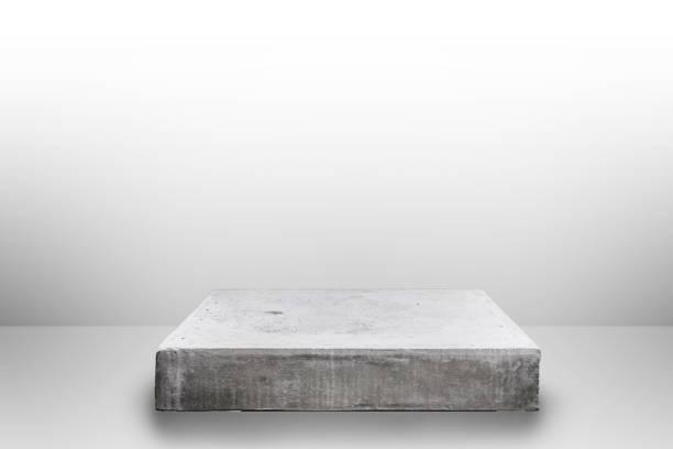 leere beton tischplatte auf konkrete verlaufshintergrund, vorlage für die anzeige ihres produktes mock. - küche rustikal gestalten stock-fotos und bilder