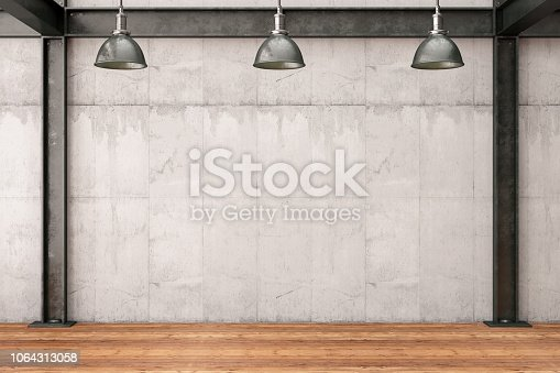 840777964istockphoto Empty Concrete Wall 1064313058