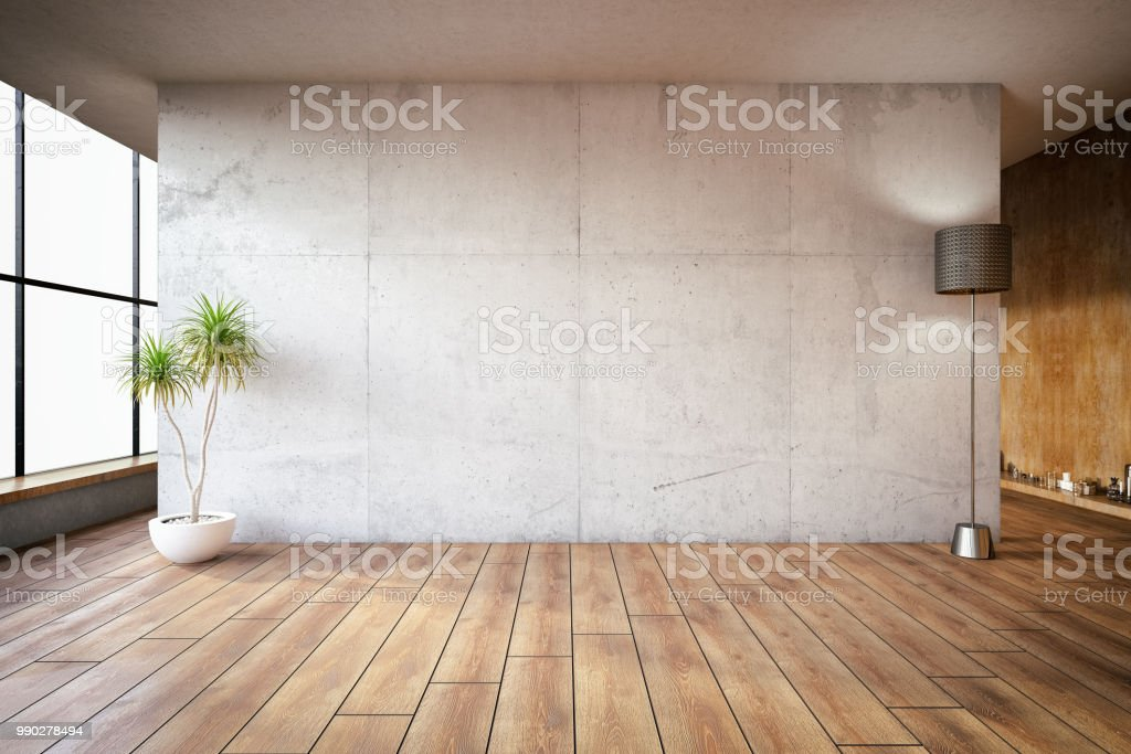 Lege betonnen wand - Royalty-free Abstract Stockfoto