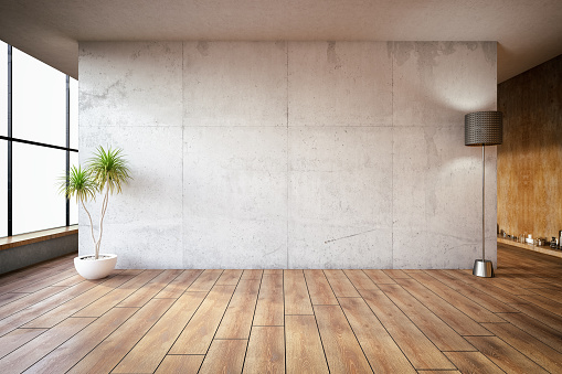 Lege Betonnen Wand Stockfoto en meer beelden van Abstract