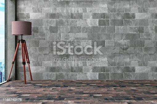 840777964istockphoto Empty Concrete Wall with Light 1165740175