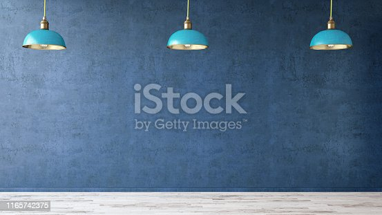 840777964istockphoto Empty Concrete Wall with Lights 1165742375