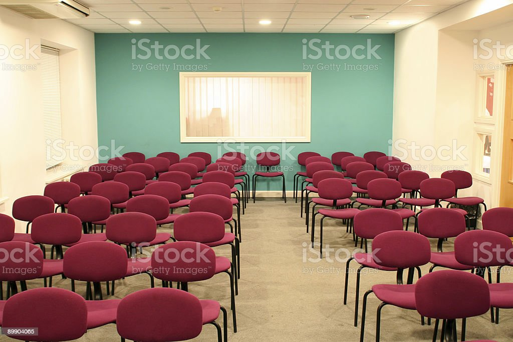 Vacío sala de conferencias foto de stock libre de derechos