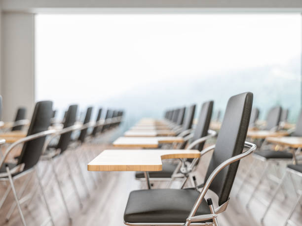 Empty conference hall. Rows of Chairs. Empty conference hall. Rows of Chairs. lecture hall stock pictures, royalty-free photos & images