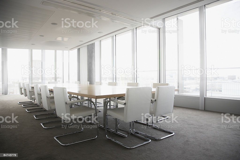 Empty conference room in modern office royalty-free stock photo