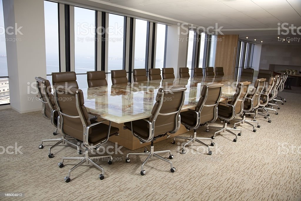 Empty Conference room in a high rise office building.