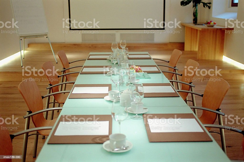 Empty conference room royalty-free stock photo