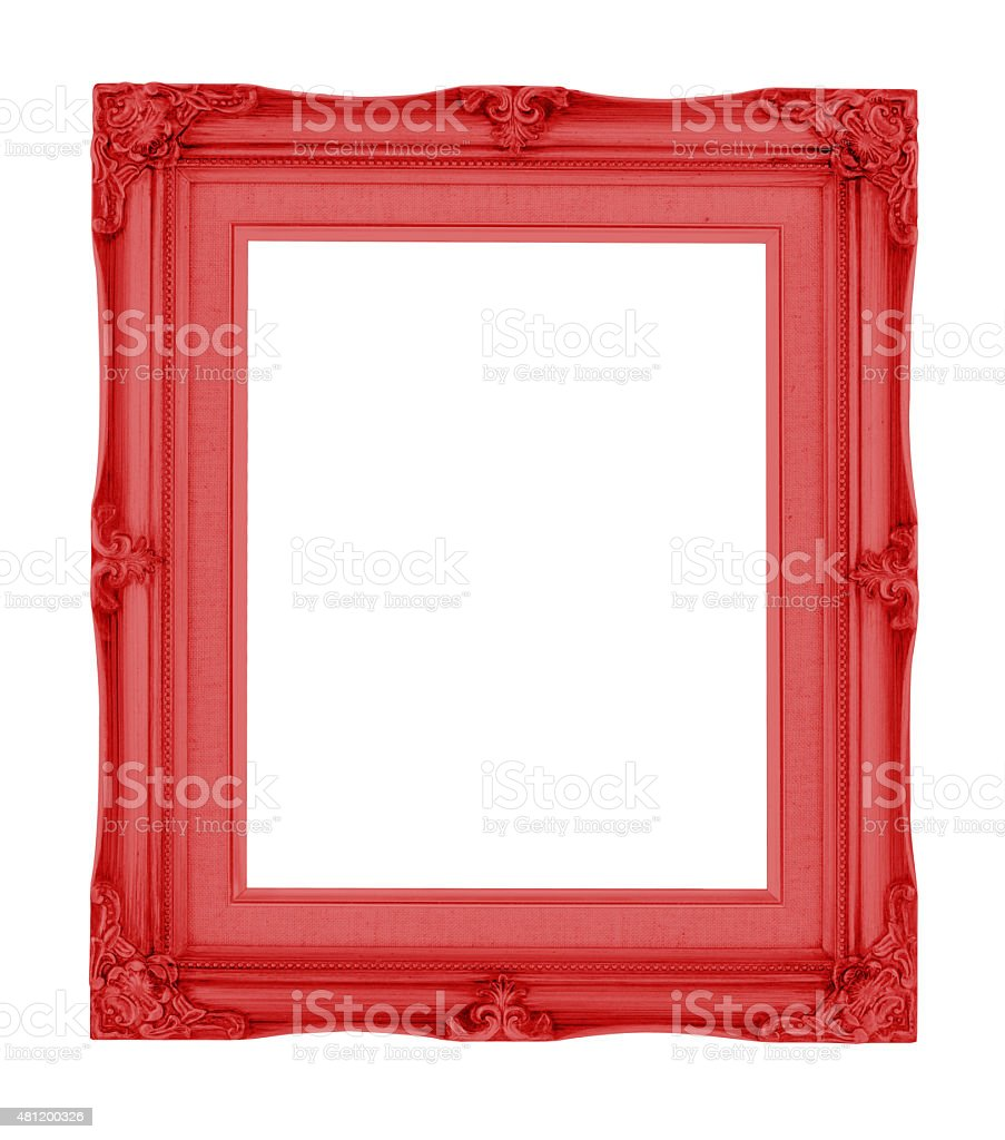 Empty contemporary vintage frame with vibrant color isolated stock photo