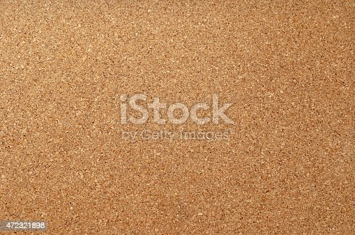 istock Empty cork notice board texture and background 472321898