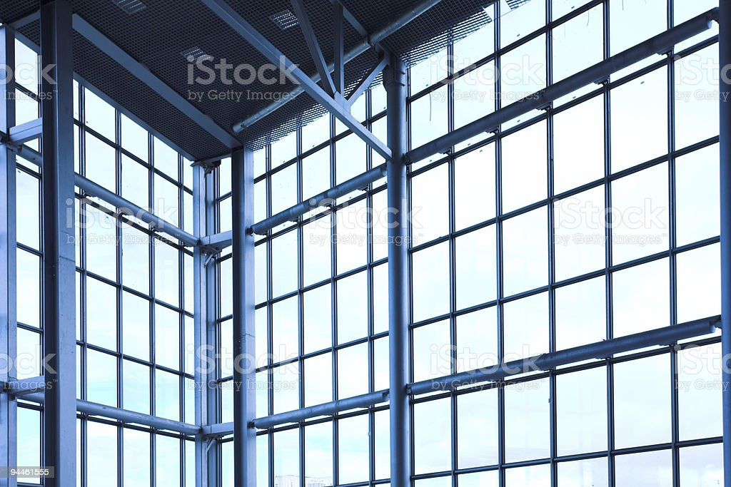 Empty corner in office centre royalty-free stock photo