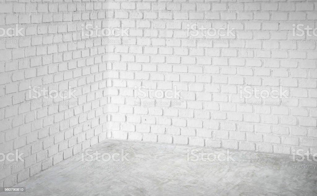 Vider Le Mur De Brique Moderne Blanc Du0027angle Et Gris Dalle Perspective,  Chambre
