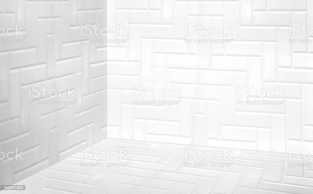 Vider Un Carrelage Moderne Blanc Mur Et Plancher Perspective Chambre  Du0027angle, Chambre De