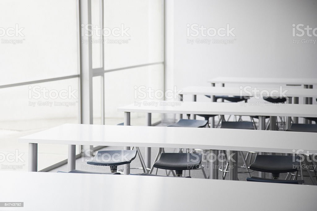 Empty corporate training room royalty-free stock photo