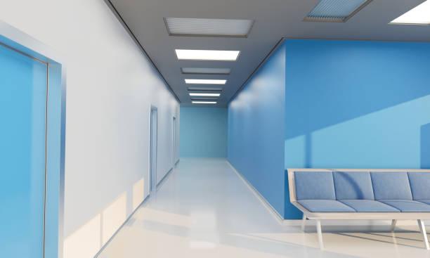 Leeren Flur durch die Wartehalle im Krankenhaus – Foto