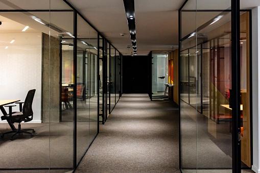 Empty company office in time of coronavirus quarantine.