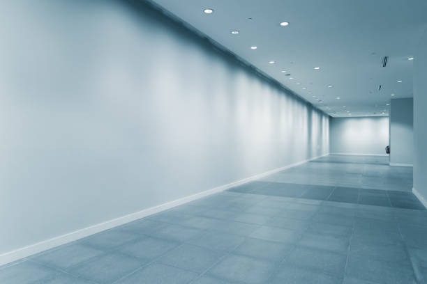 empty corridor in modern office stock photo