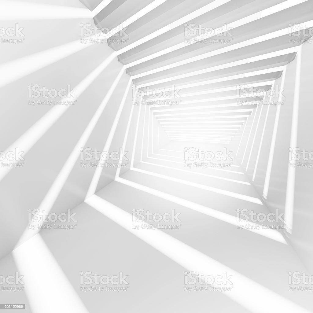 Empty corridor interior with light beams – Foto
