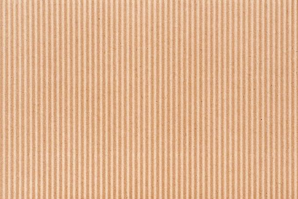 Empty corrugated brown cardboard. stock photo