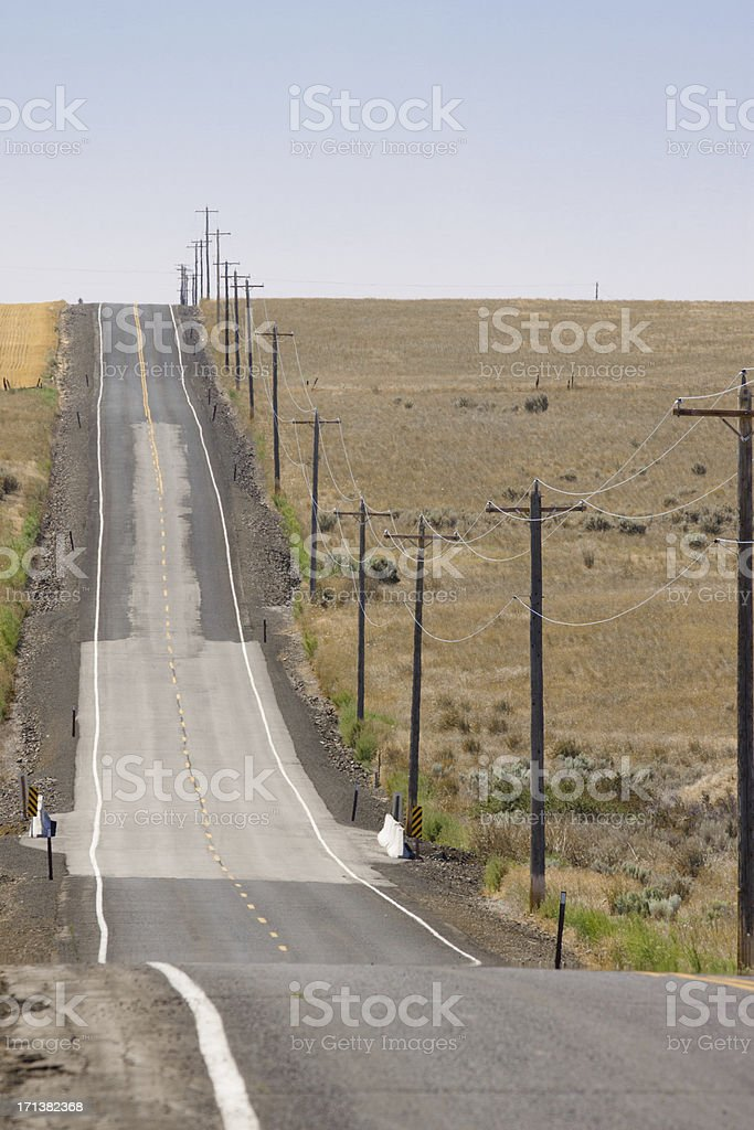 Empty Country Road royalty-free stock photo