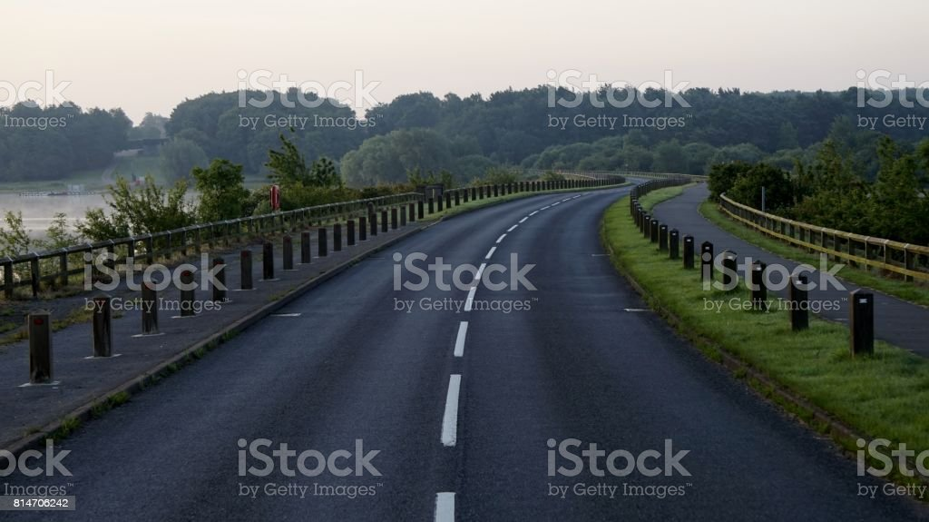 Empty Country Road. stock photo