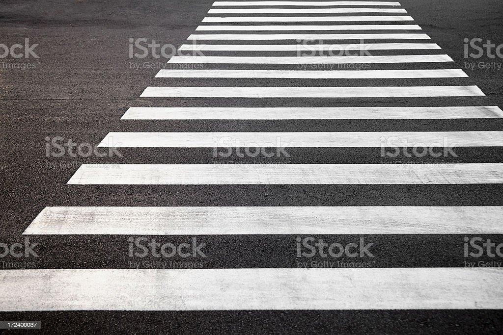 Empty crosswalk royalty-free stock photo