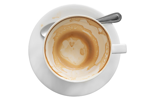 Empty cup of coffee