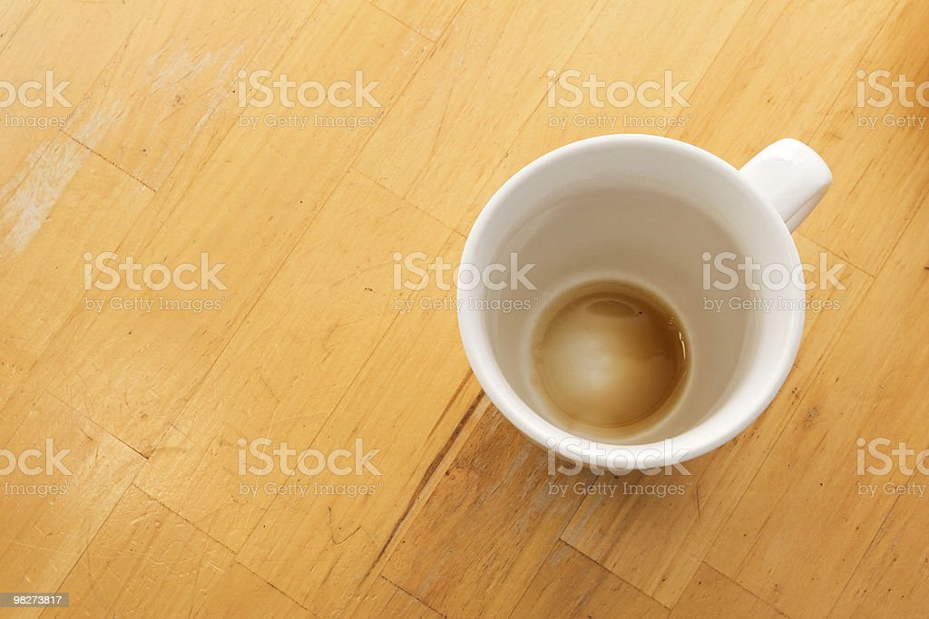 Empty Cup royalty-free stock photo