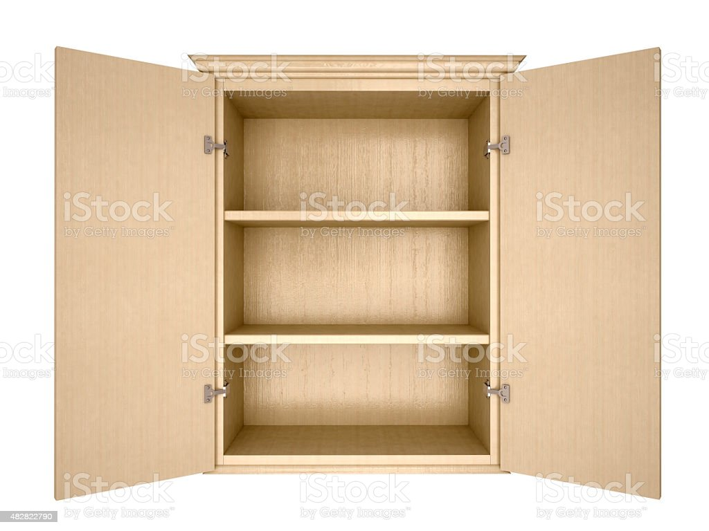 empty cupboard stock photo