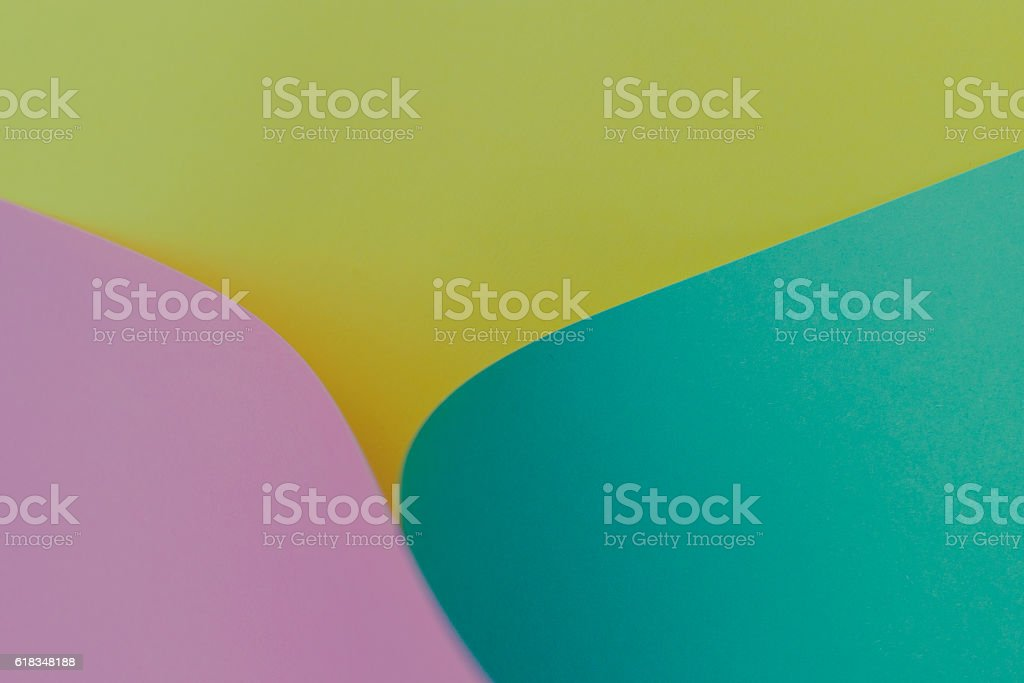 empty curled up construction paper sheet. stock photo