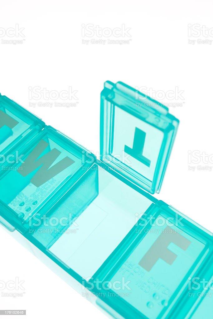 Empty daily dose medicine box. royalty-free stock photo